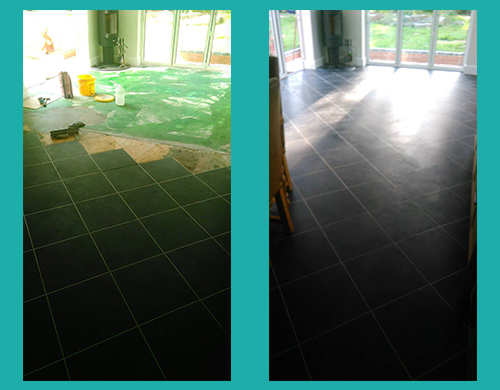 Karndean Designflooring Da Vinci Noir Alam Chine Seaside Before and After Photos